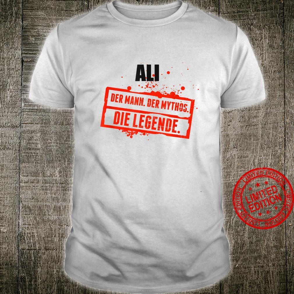 Ali Name Lustiger Spruch Vorname Geschenk Shirt