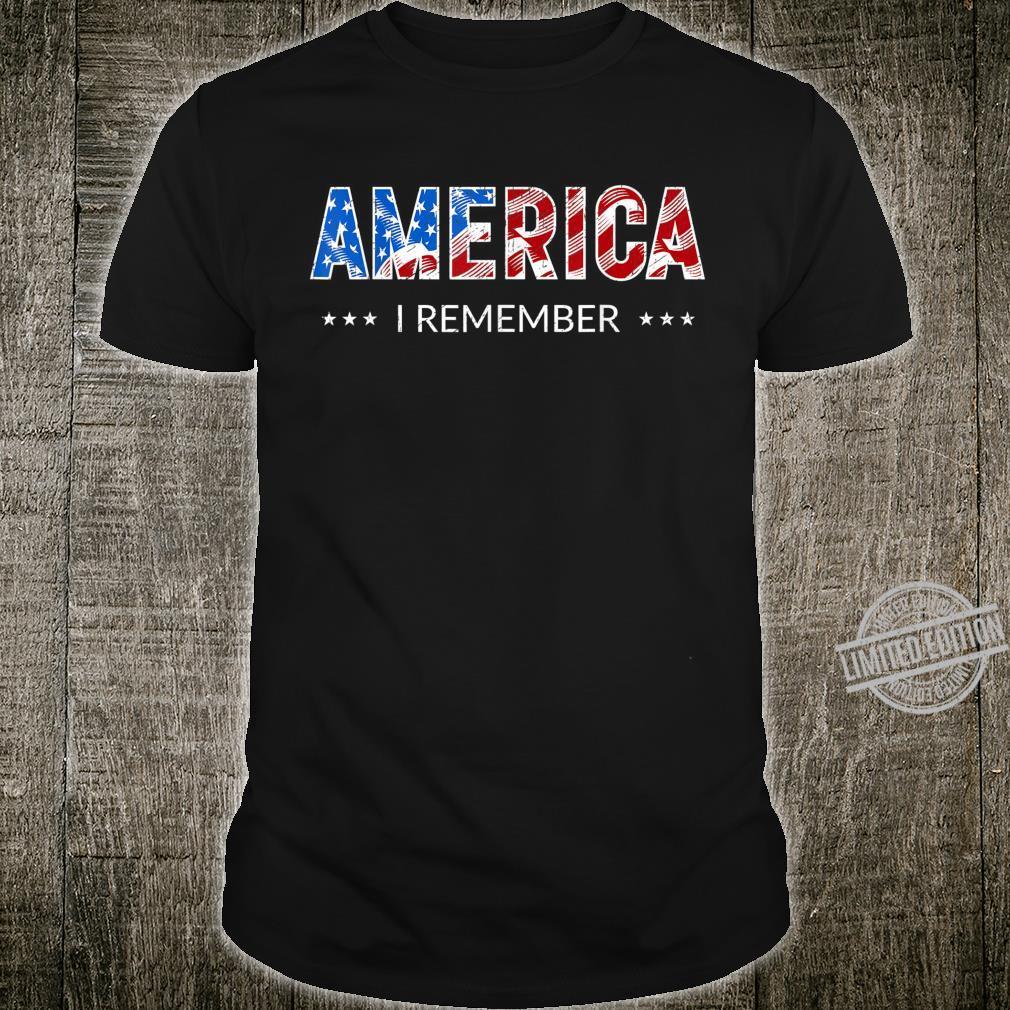 Amerikanische USAFlagge Gedenktag Shirt