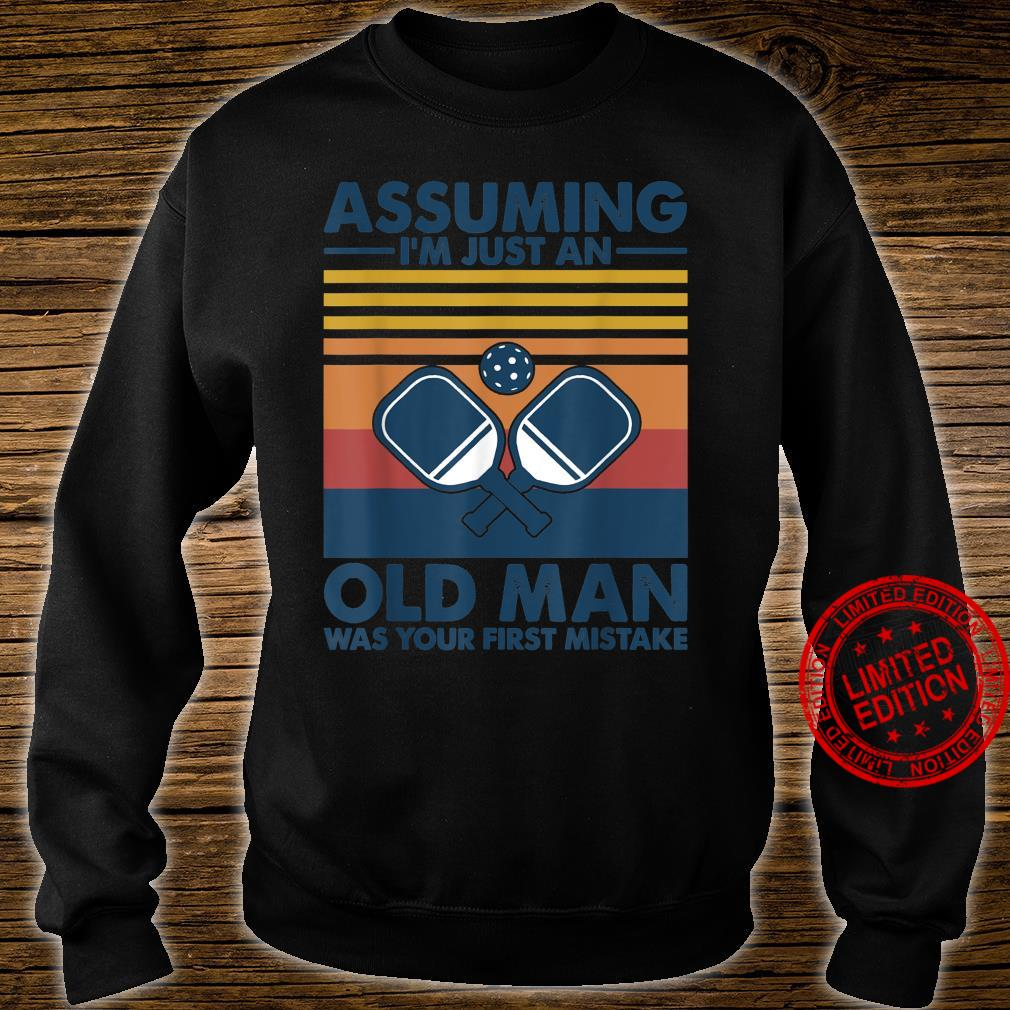 Assuming Old Man With Pickleball Shirt sweater