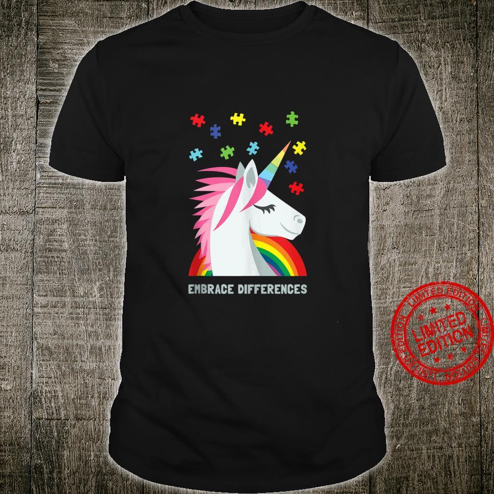 Autism Awareness Youth Unicorn Puzzle Piece Shirt