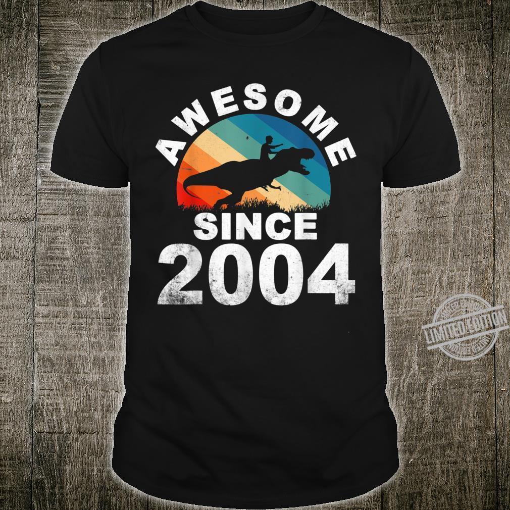 Awesome Since 2004 16th Dinosaur Trex 16 Year Old Shirt