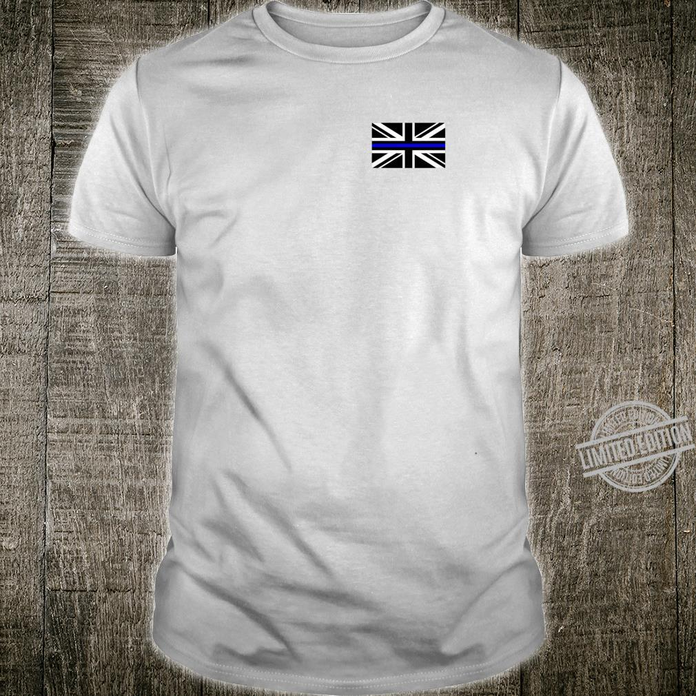 Back the Blue Union Jack Flag to Support UK Thin Blue Line Shirt