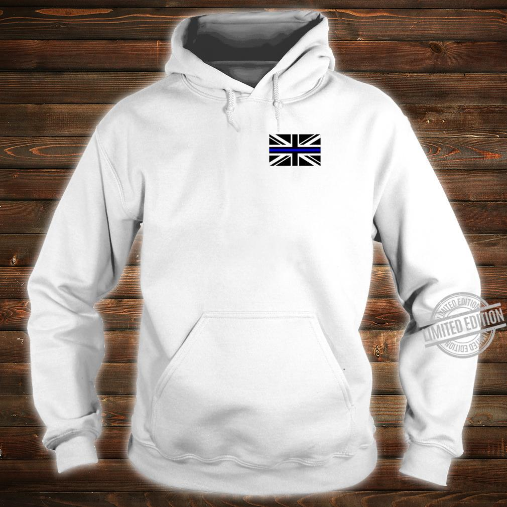 Back the Blue Union Jack Flag to Support UK Thin Blue Line Shirt hoodie
