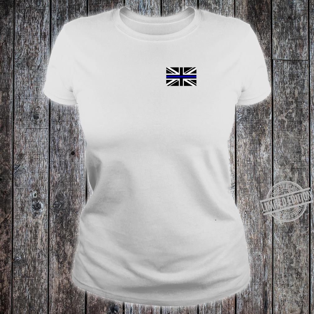 Back the Blue Union Jack Flag to Support UK Thin Blue Line Shirt ladies tee