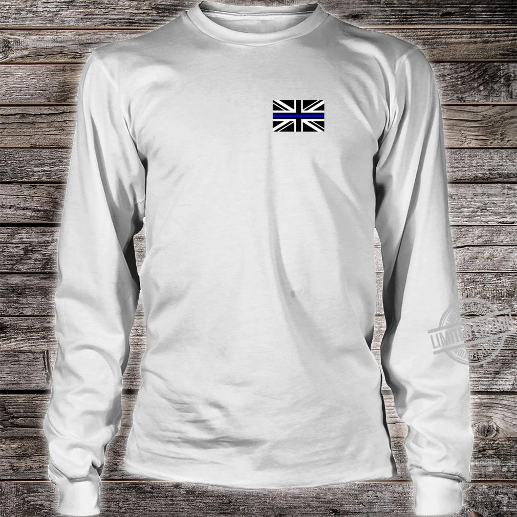 Back the Blue Union Jack Flag to Support UK Thin Blue Line Shirt long sleeved