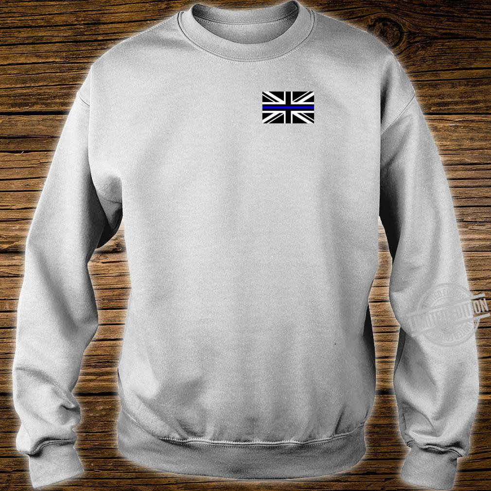 Back the Blue Union Jack Flag to Support UK Thin Blue Line Shirt sweater