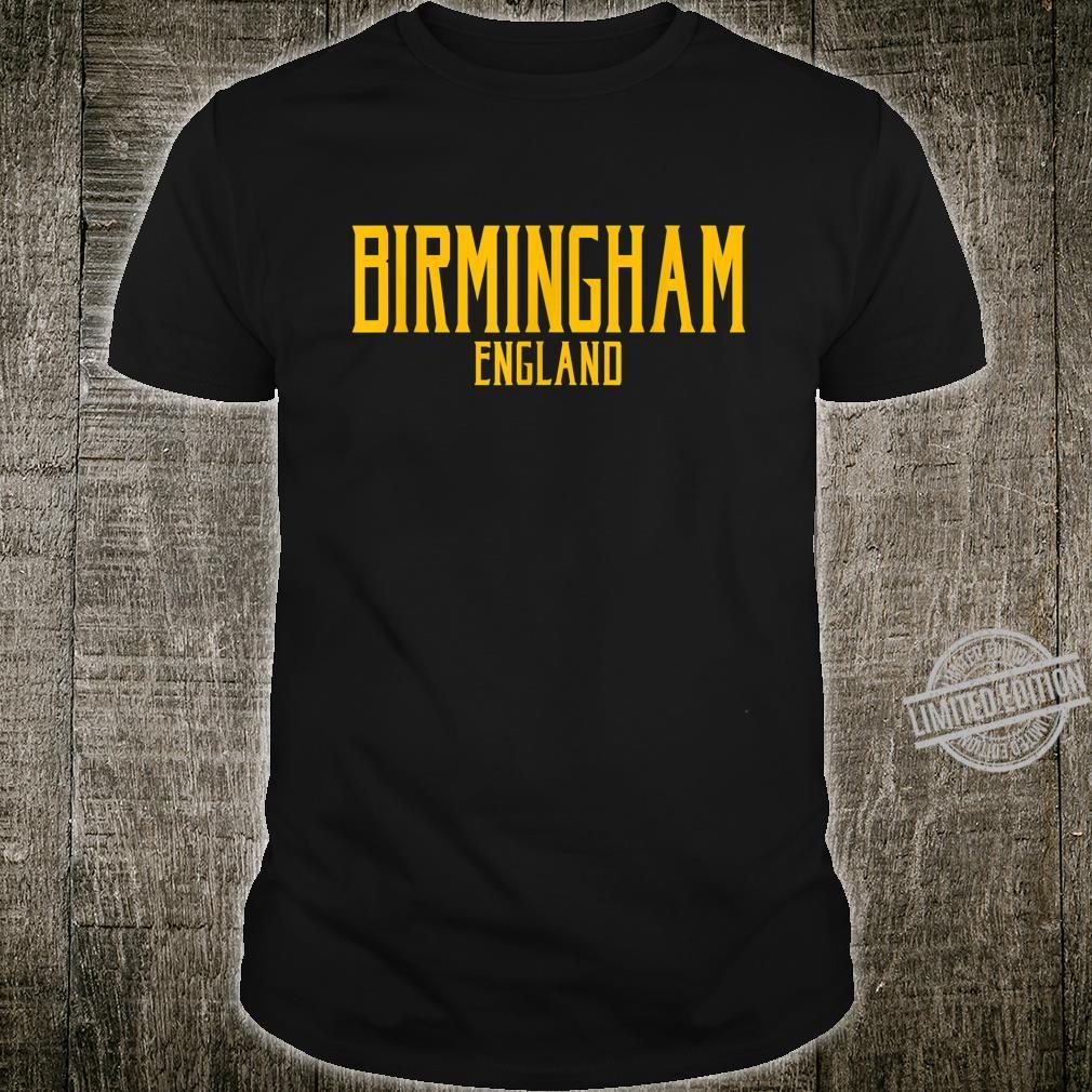 Birmingham England Vintage Text Amber Print Shirt
