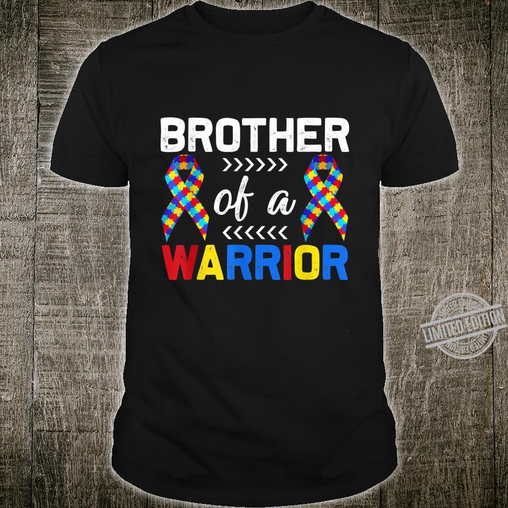 Brother of a Warrior Autism Awareness Cute Matching Shirt
