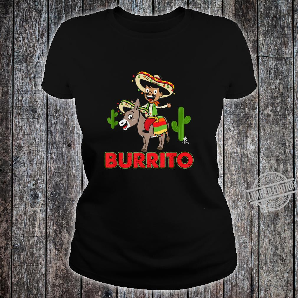 Burrito Donkey Cinco de Mayo Shirt ladies tee