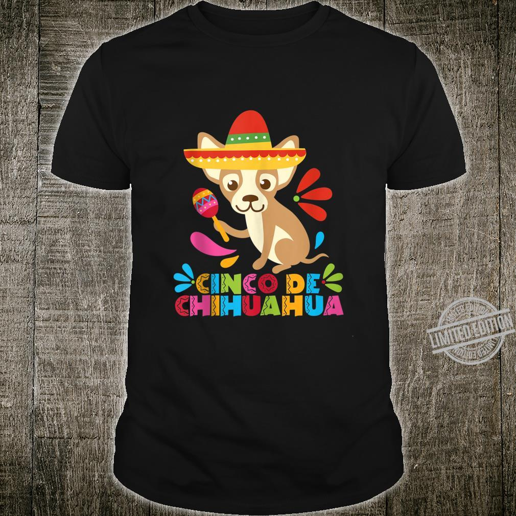 Cinco De Mayo Dog Shirt Mexican Chihuahua Fiesta Maracas Shirt