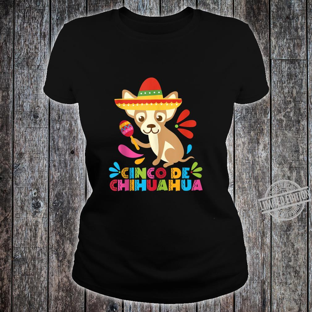 Cinco De Mayo Dog Shirt Mexican Chihuahua Fiesta Maracas Shirt ladies tee