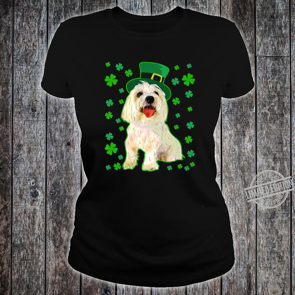 Coton De Tulear Dog St Patrick's Day Owner Mom Dad Shirt ladies tee