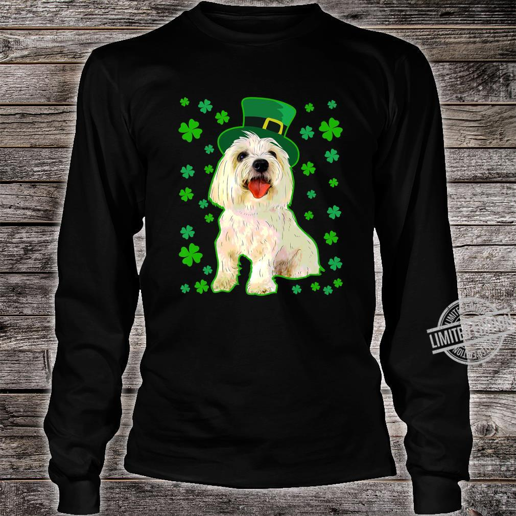 Coton De Tulear Dog St Patrick's Day Owner Mom Dad Shirt long sleeved