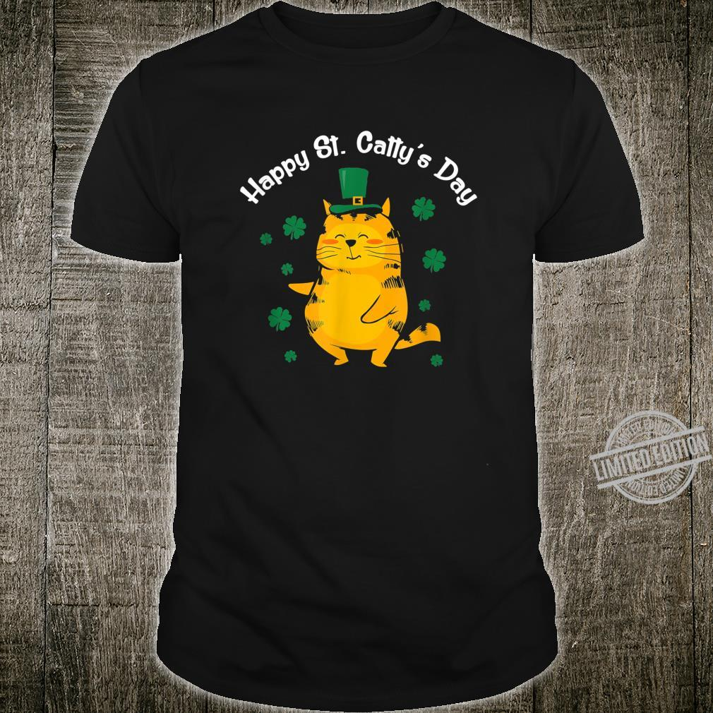 Cute Happy St. Catty's Day for St. Paddy's Baseball Shirt