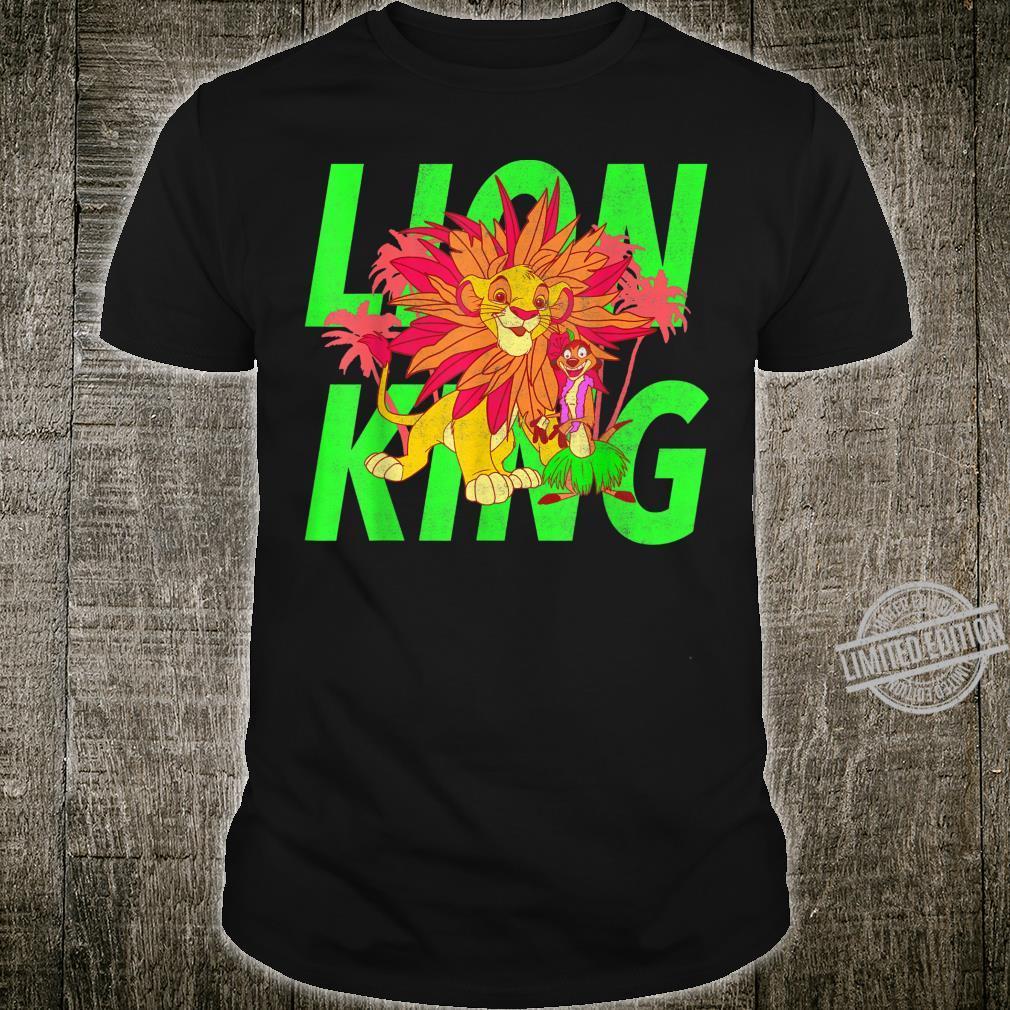 Disney The Lion King Simba And Timon Neon Shirt