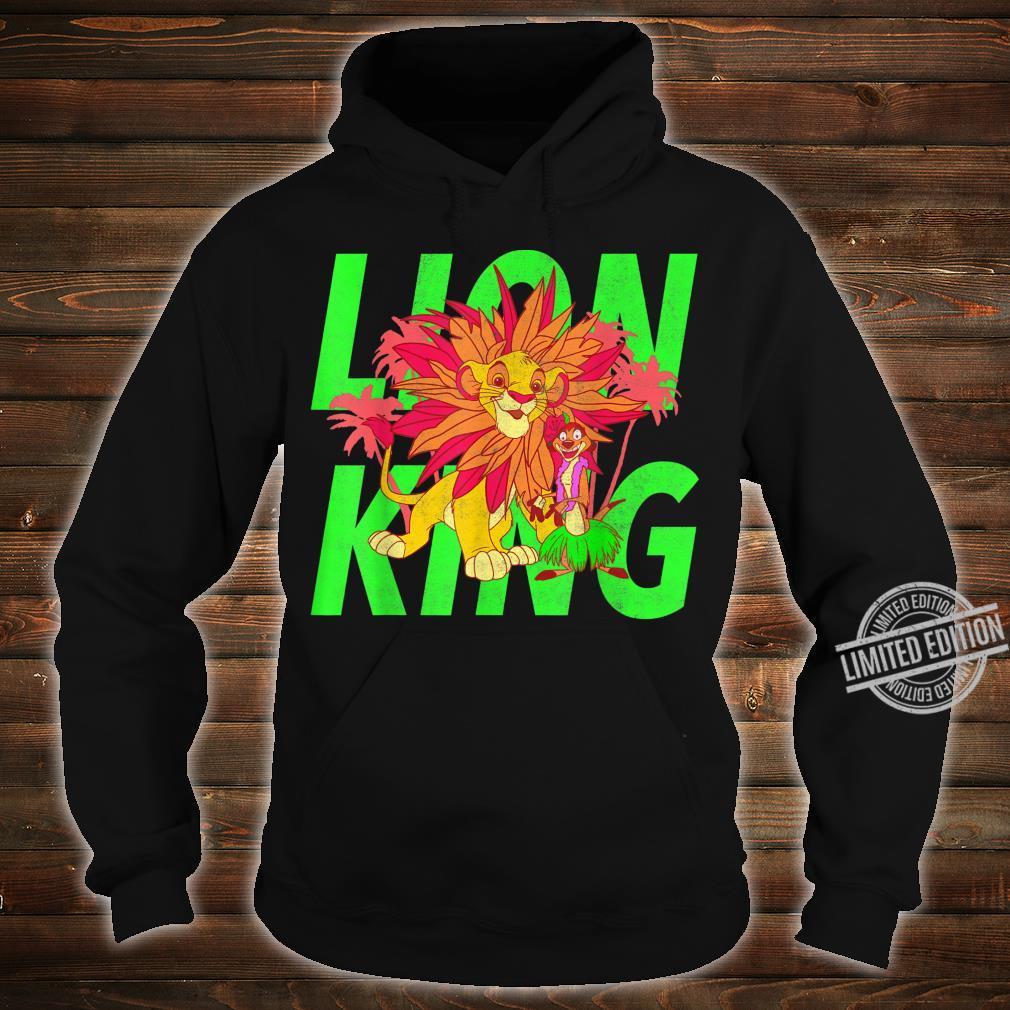 Disney The Lion King Simba And Timon Neon Shirt hoodie