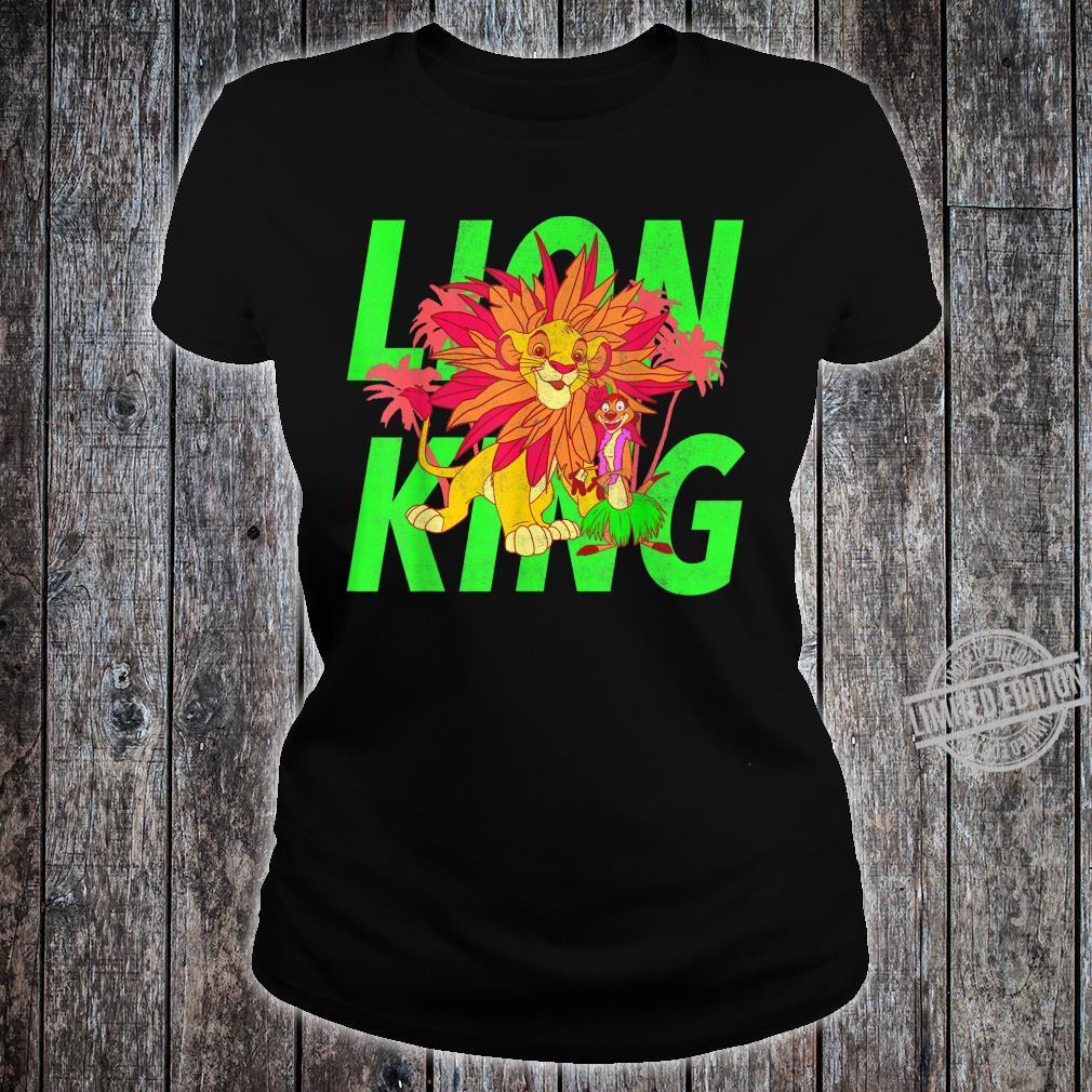 Disney The Lion King Simba And Timon Neon Shirt ladies tee