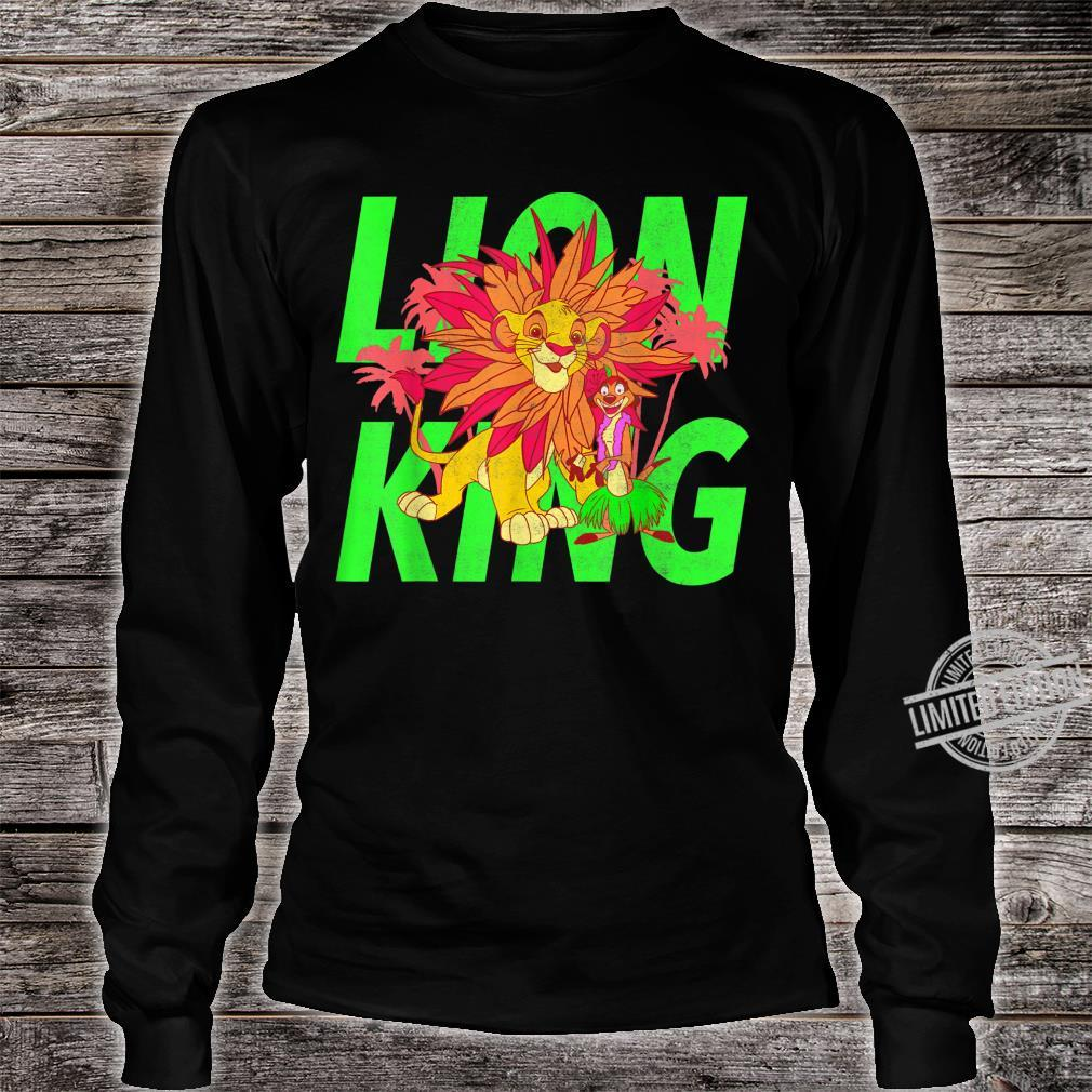 Disney The Lion King Simba And Timon Neon Shirt long sleeved