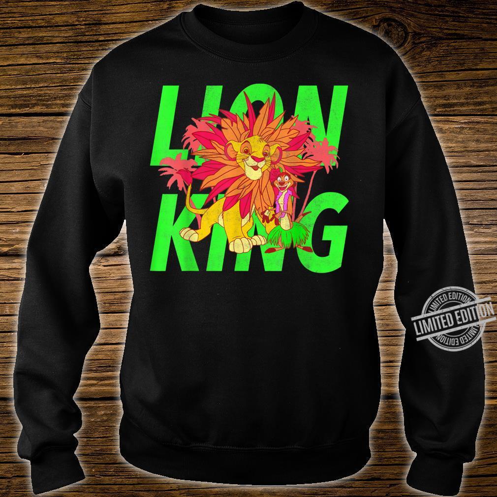 Disney The Lion King Simba And Timon Neon Shirt sweater