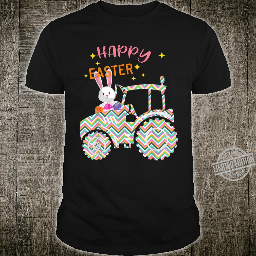 Easter Bunny Tractor Costume Egg Hunting Boy Shirt