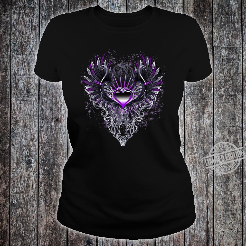 Fallen Angel Wings Dark Goth Clothing Heart Shirt ladies tee