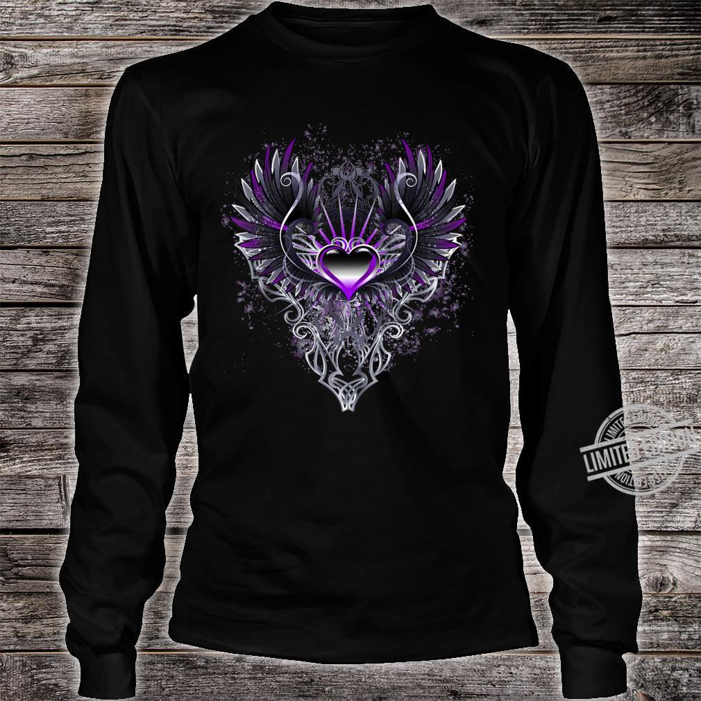 Fallen Angel Wings Dark Goth Clothing Heart Shirt long sleeved