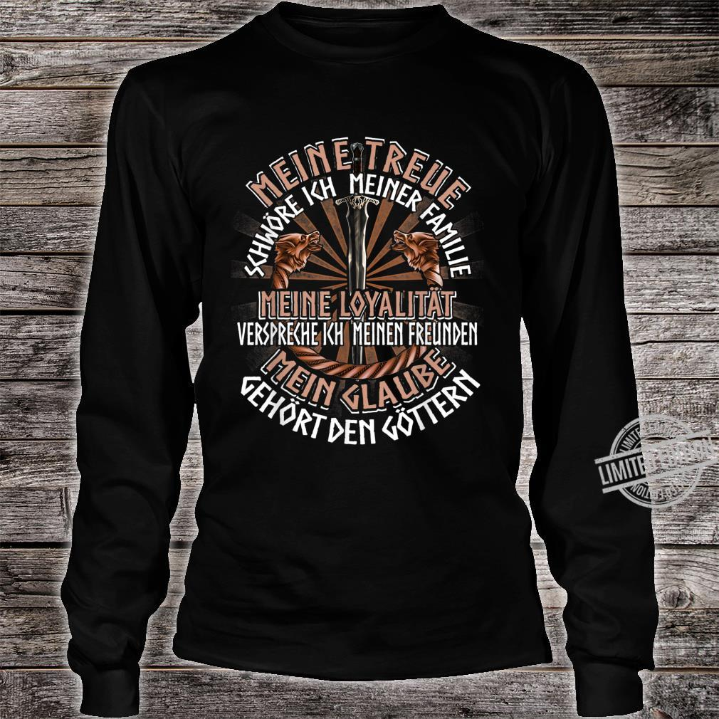 Family Friends Gods German Clothing Quote Viking Shirt long sleeved
