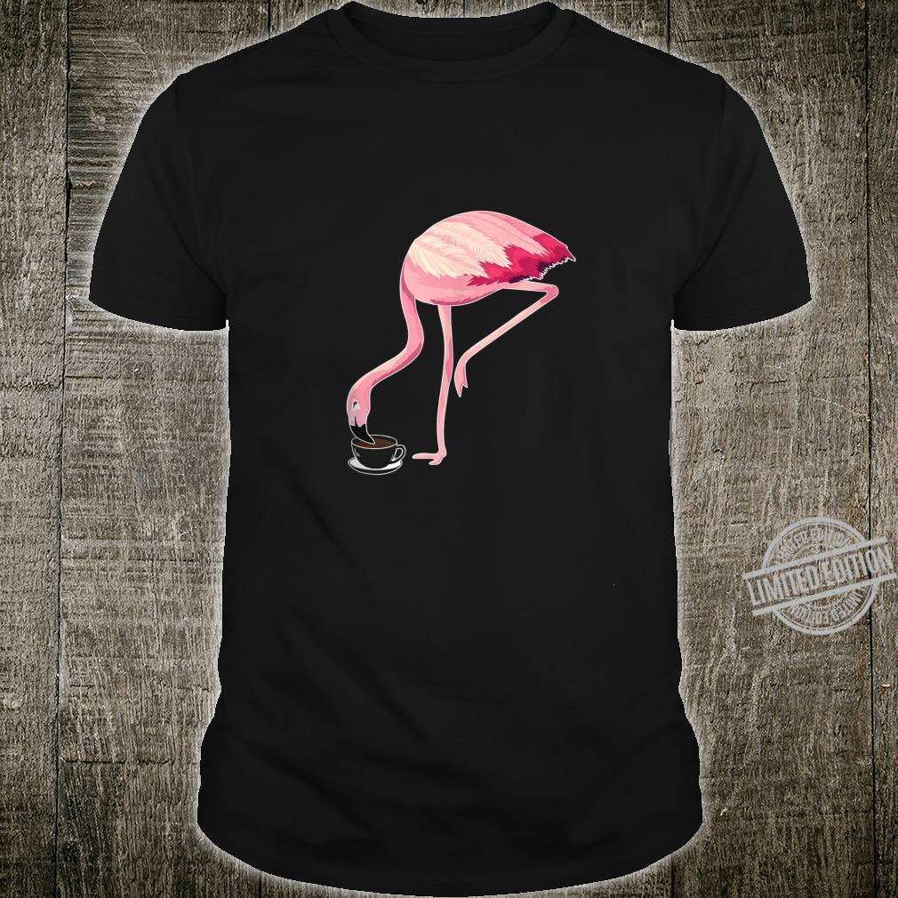Flamingo Crazy Lady Coffee Cute Shirt