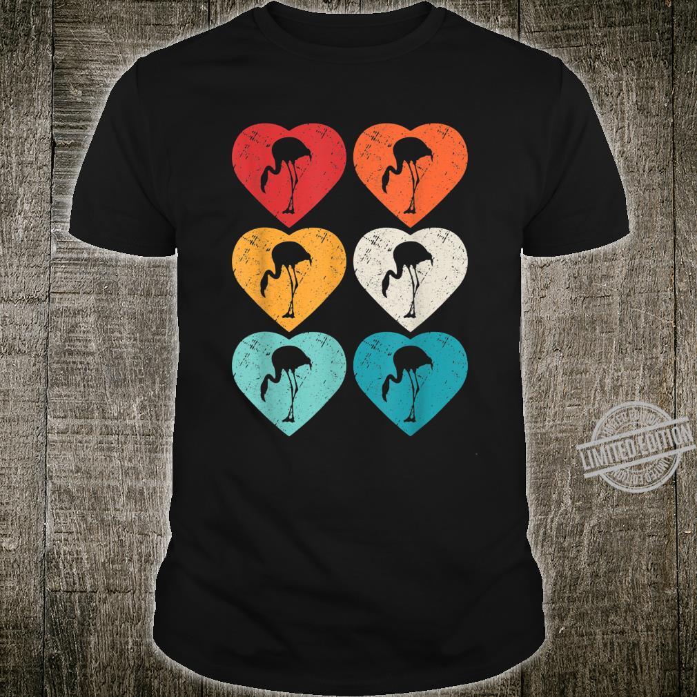 Flamingo Retro 80s Pop Art Heart Shirt