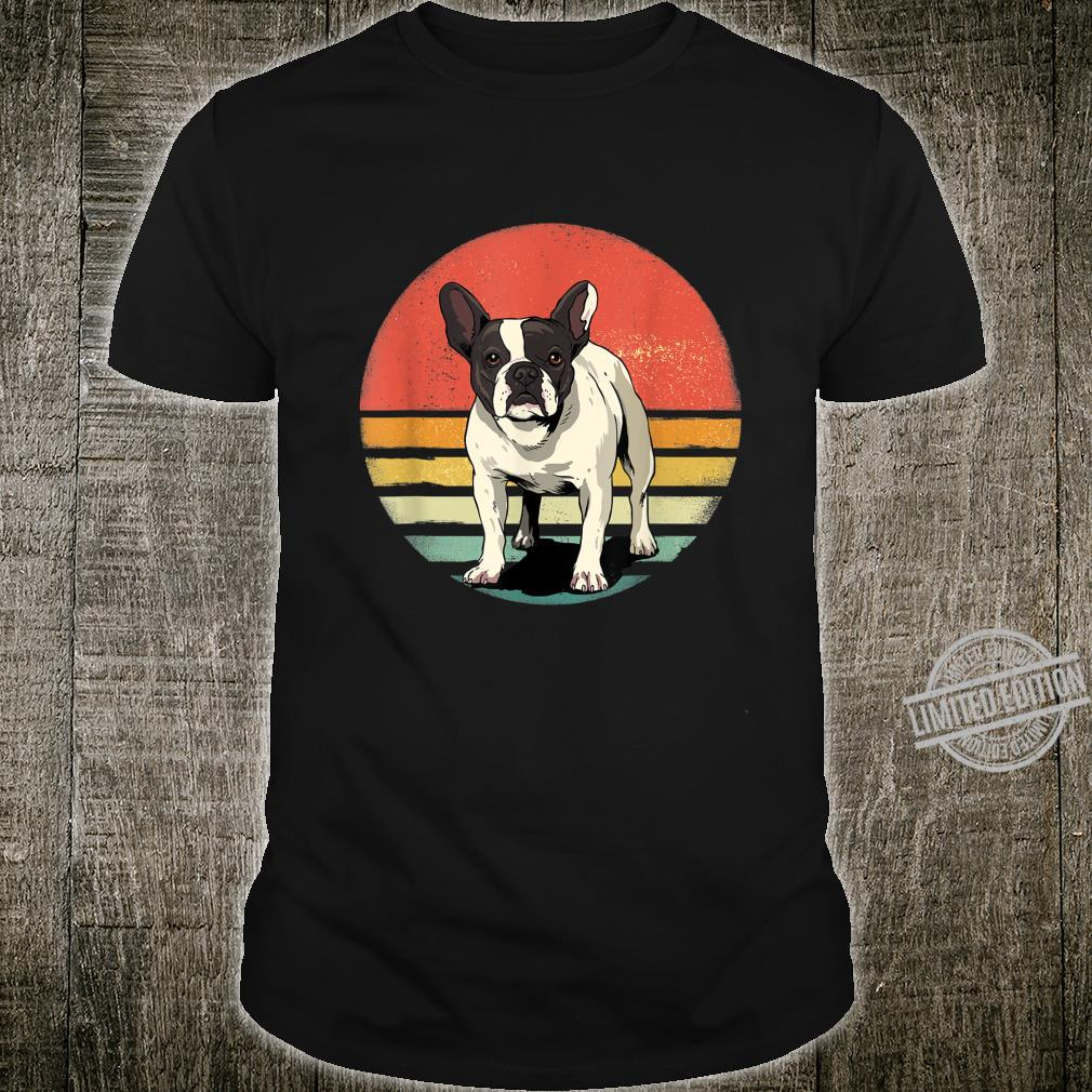 French Bulldog Dog Retro Vintage 70s Dog Pet Shirt