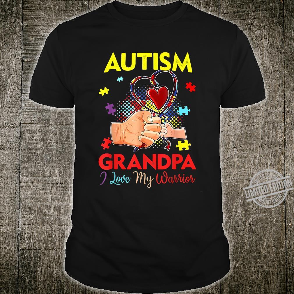 Funny Autism Awareness Grandpa Of A Warrior Shirt