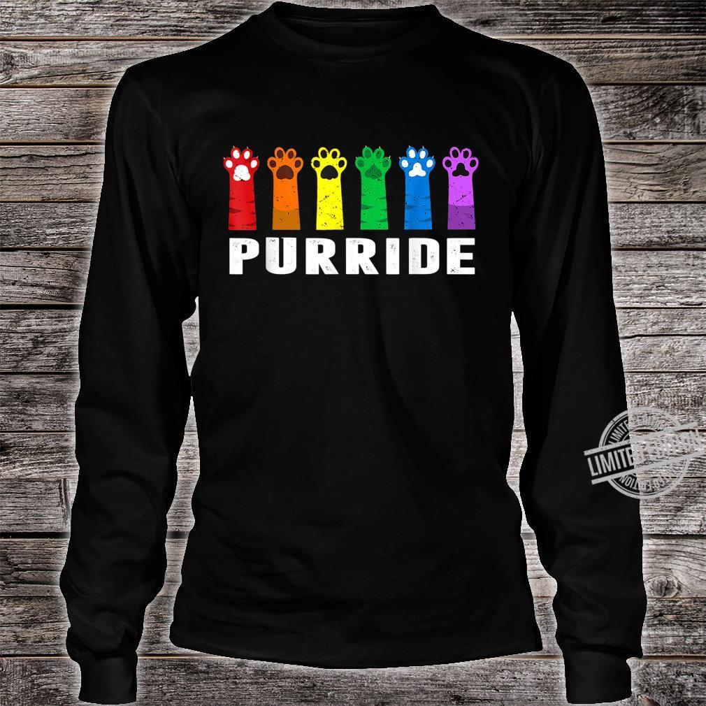Funny LGBT Cat Gay Pride Cat Rainbow Shirt long sleeved