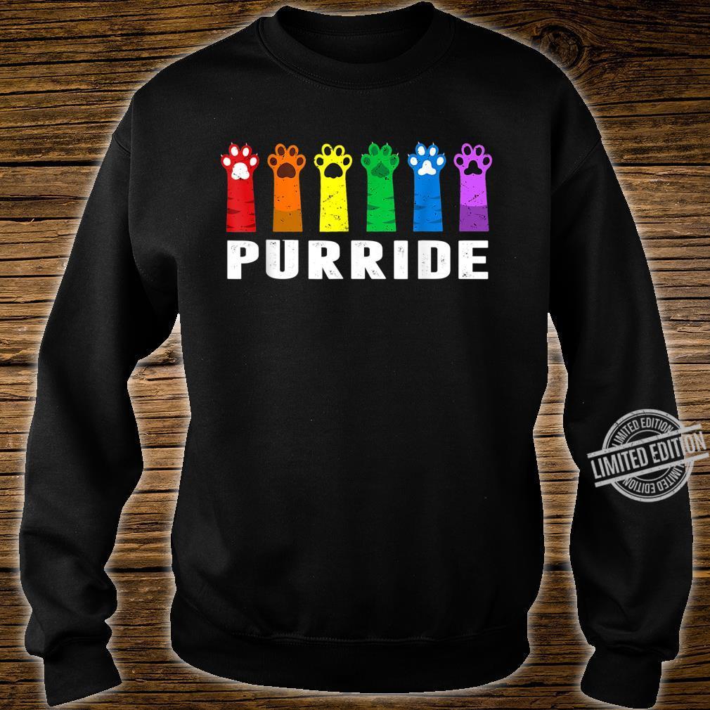 Funny LGBT Cat Gay Pride Cat Rainbow Shirt sweater