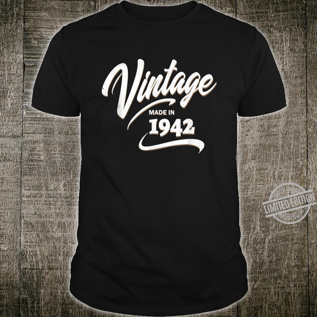 Funny Vintage 1942 78th Birthday Born in 1942 Birthday Shirt