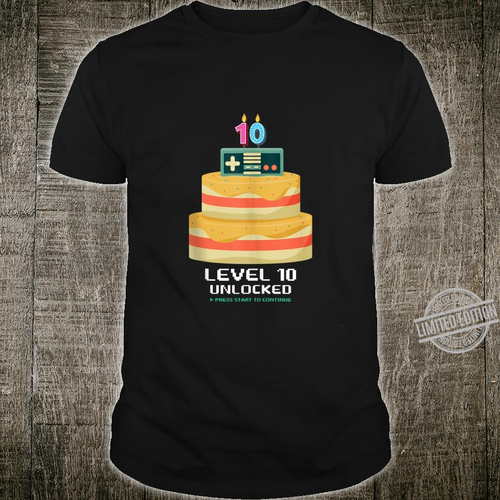 Pleasant Gamer 10 Years Old 10Th Birthday Cake Level 10 Unlocked Shirt Funny Birthday Cards Online Alyptdamsfinfo