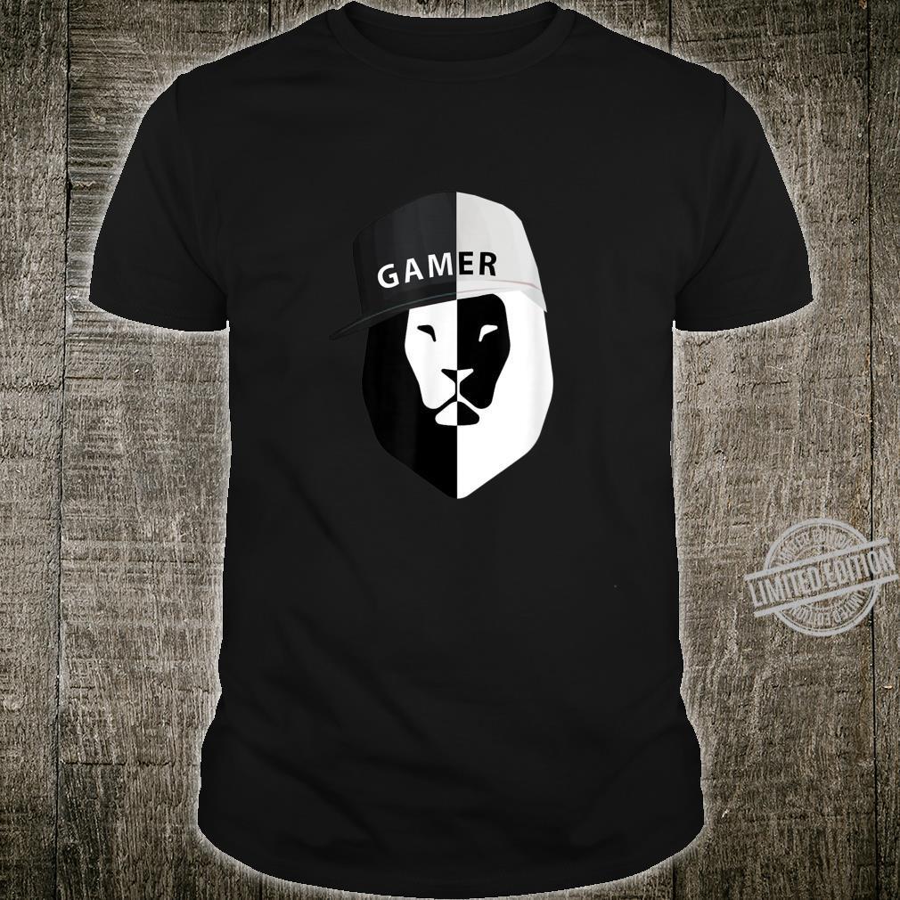 Gamer Lion Cool Hipster Video Gamer Humor Joke Shirt
