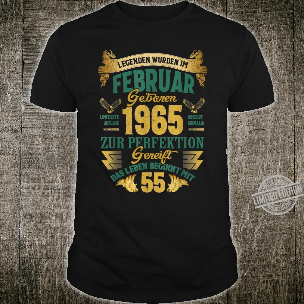 Geschenk zum 55. Geburtstag Jahrgang 1965 Februar Shirt