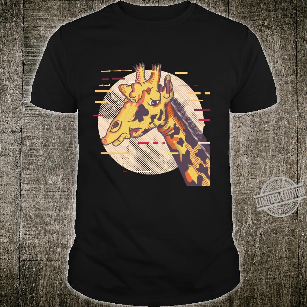 Giraffengesicht Giraffe Face Langarmshirt Shirt