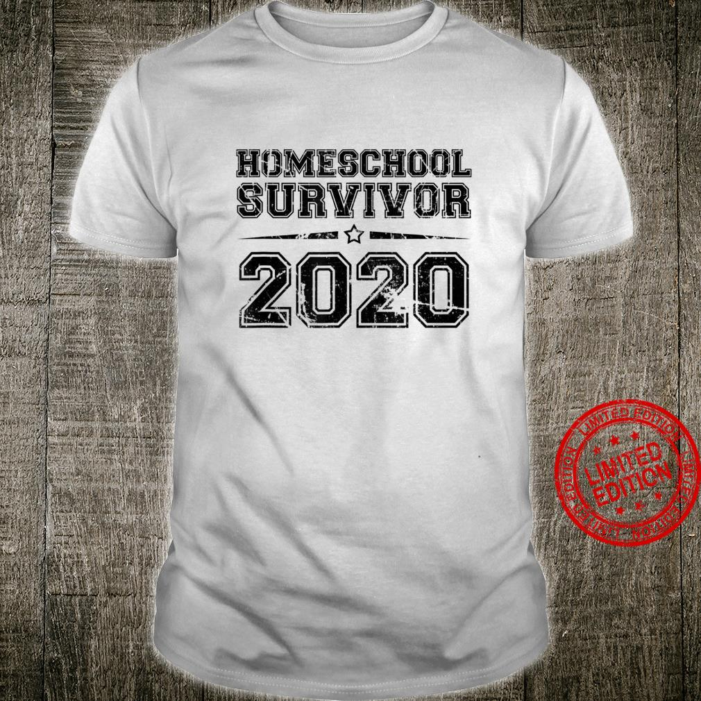 Homeschool Survivor 2020, I Survived 2020 Distressed Text Shirt