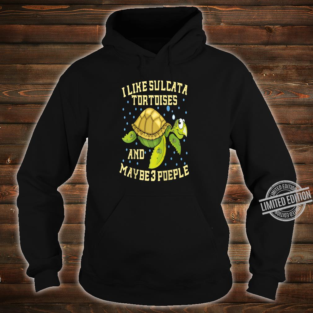 I Like Sulcata Tortoises And Maybe 3 People Turtle Owner Shirt hoodie