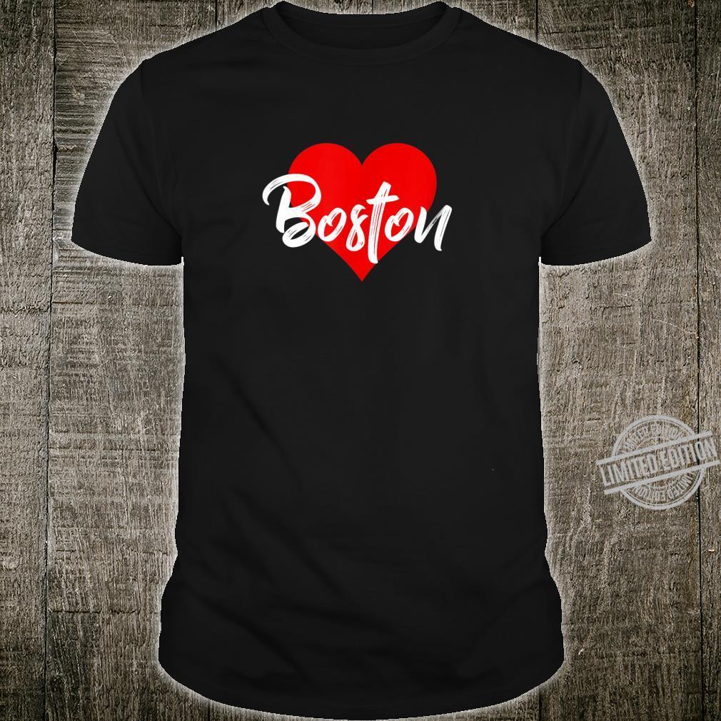 I Love Boston Beantown Shirt