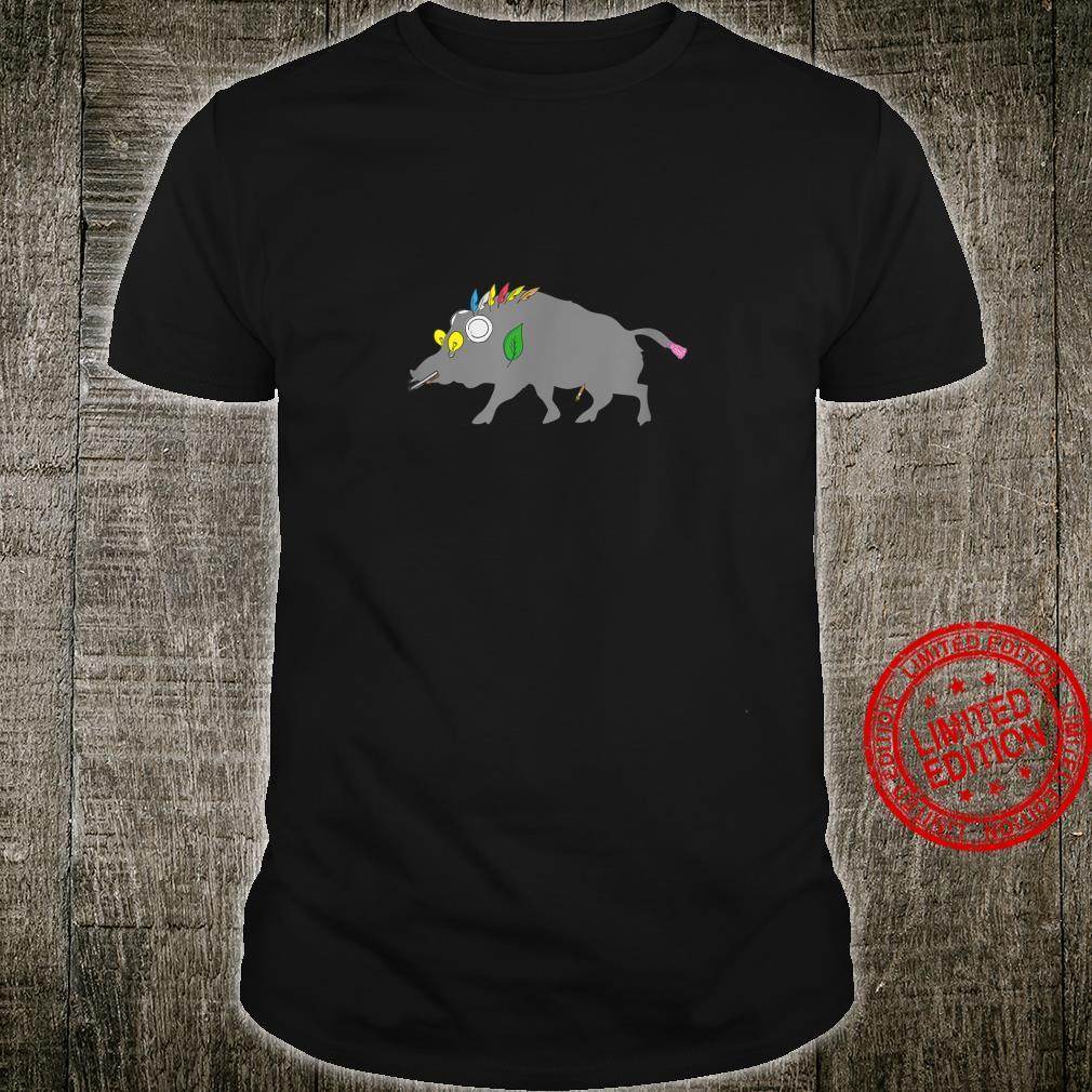 Keiler Wildschwein, Jäger, Jagd, Hirsch und Wild Shirt