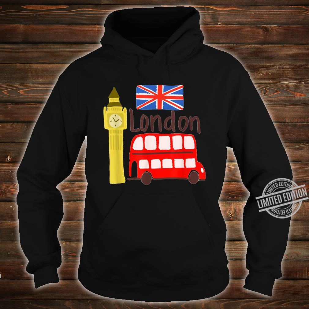 London England Big Ben Bus Union Jack Flag Shirt hoodie