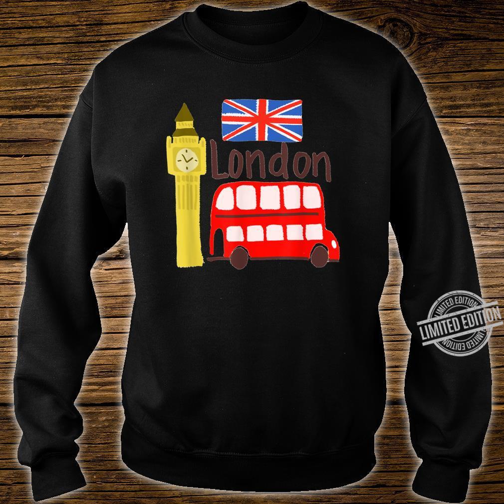 London England Big Ben Bus Union Jack Flag Shirt sweater
