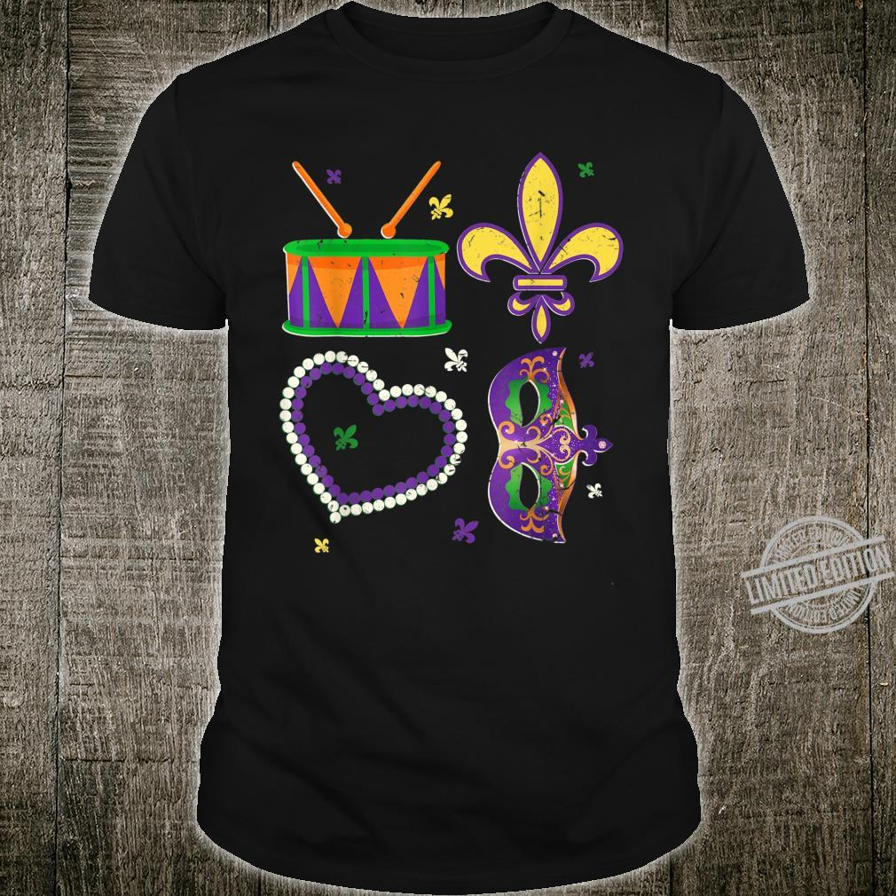 Love Mardi Gras Party Costume Mardi Gras Dad Shirt