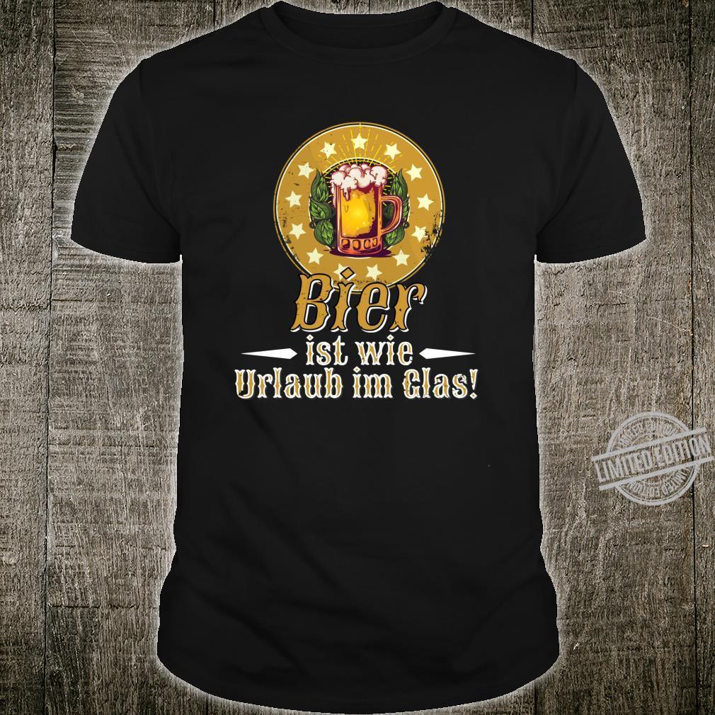 Lustiges Bier Geschenk, Urlaub im Glas, witziger Spruch Shirt
