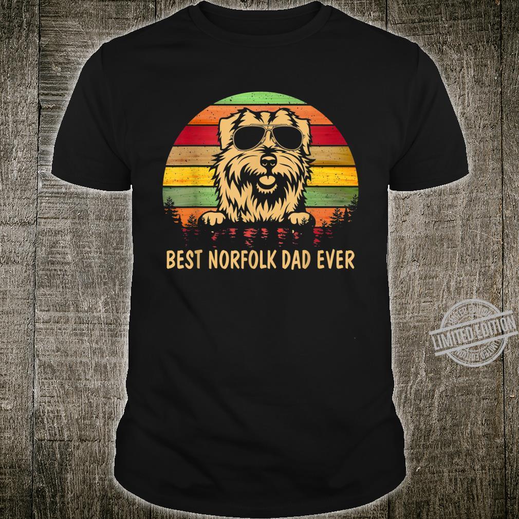 Men Father's Day Dog Best Norfolk Terrier Dad Ever Shirt