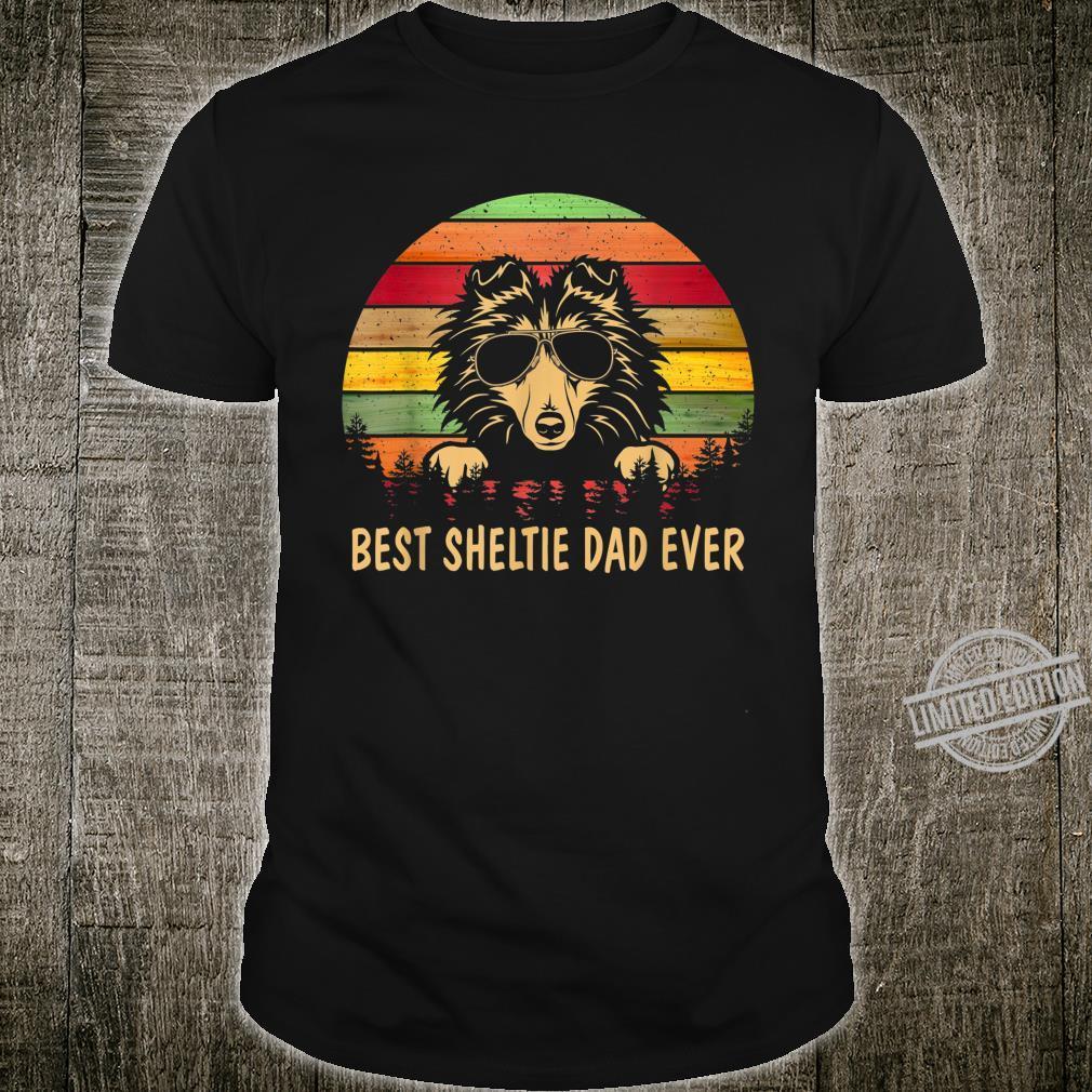 Men Father's Day Dog Best Sheltie Dad Ever Shirt