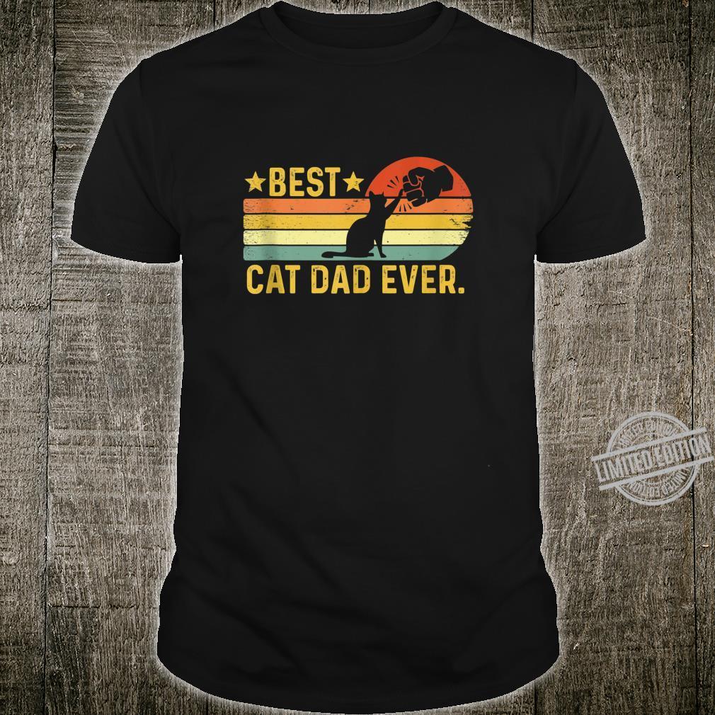 Mens Best Cat Dad Ever Shirt Cat Dad Father Vintage Shirt
