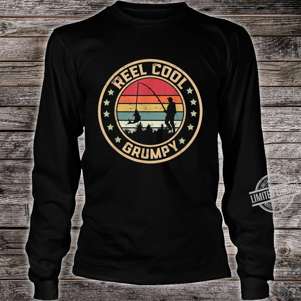 Mens Reel Cool Grumpy Fish Fishing Shirt Father's Day Shirt long sleeved